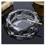 OUMYLFCNEC cenicero Cristal de Cristal cenicero Creativo Moda Tendencia Regalo pequeño cenicero Grande Oficina hogar Sala de Estar cenicero Cenicero con Tapa (Color : B, Size : 15cm)
