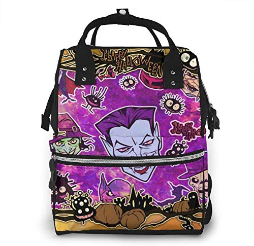 UUwant Sac à Dos à Couches pour Maman Diaper Bag,Versatile Stylish and Durable, Suitable for Mom and DadHalloween Vampire, Monster, Kid, Evil Framework
