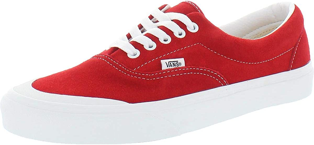 Vans Era TC Men's Suede Low Sneakers Red New item Detroit Mall 10.5 Lace-Up Top Size