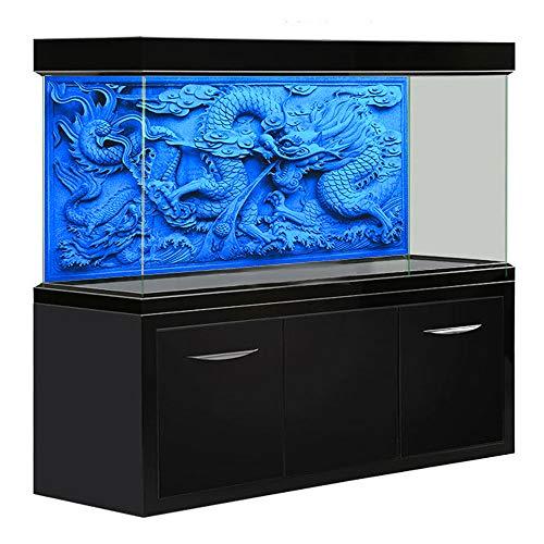 Amakunft 48' x 20' Aquarium Background HD Blue Dragon Double Sides Fish Tank Decoration (Various Sizes, Size Customizable)