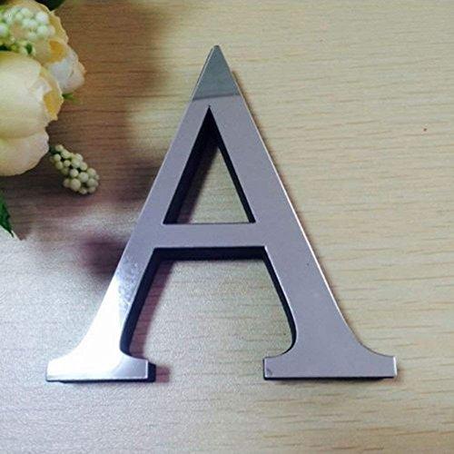 JYSPT 3D-kristal acryl alfabet brieven DIY moderne spiegel sticker aftrekplaatje kunst wandfoto-wand-sticker-uitgangsdecoratie