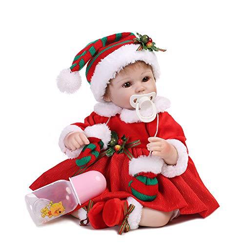 MCJL Boneca Real Life Baby Dolls de silicone macio, realista, realista, chupeta magnética para recém-nascidos, brinquedo de presente