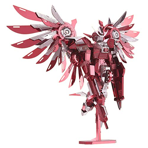 2016 Limited Edition Piececool 3D Metal Puzzle Thundering Wings Gundam Robot P069-RS DIY 3D Metal Puzzle Kits Laser Cut Models Jigsaw Toys