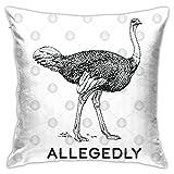 Allegedly - Fundas de almohada de avestruz
