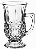 Pasabahce IstanbulTeeglas 6er Set, Gläser Teegläser Trinkgläser mit Henkel -
