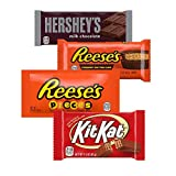 HERSHEY'S, KIT KAT & REESE'S Assorted Milk Chocolate and Peanut Butter Candy, Bulk Candy, Variety Bag