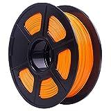 Wolfgray 1.75mm PLA Filamento de impresora 3D, PLA Impresora 3D Filamento para impresora 3D y lápiz 3D, Precisión dimensional +/- 0.02 mm, Carrete de 1 KG Línea Aseada, Impresión Suave (Naranja)
