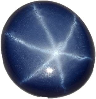 gemhub Natural Certified 8.65 Ct. 13 mm 6 Rays Blue Star Sapphire Oval Cabochon Loose Gemstone BP-038