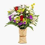 Ramo de flores naturales a domicilio variado Barcelona Style - Flores frescas - Envío a domicilio 24h GRATIS - Tarjeta dedicatoria incluida - Caja especial para ramos de flores naturales