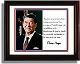 Framed Ronald Reagan Autograph Replica Print - Presidential Quote