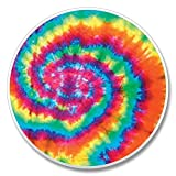 Tie dye sixties pyschedelic Auto Coaster, Single Coaster for Your Car cup holder by Highland Graphics