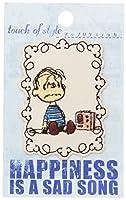 ミノダ スヌーピーフェイクレザー風刺繍デコシール SONG S02R8698
