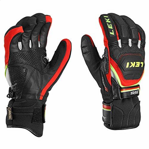 LEKI Handschuhe Worldcup Race Coach Flex S GTX, schwarz-rot-weiß-gelb, 9.5
