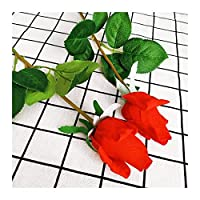 HETHYAN ホームデコレーションラテックスローズハンドフィールは、シミュレーション装飾人工シリコーンバラの花ホーム結婚式DIYフェルト (Color : Red)