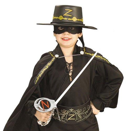 les colis noirs lcn Kit Zorro Epée en Plastique, Masque et Chapeau Enfant - Taille - Taille Unique - 175145