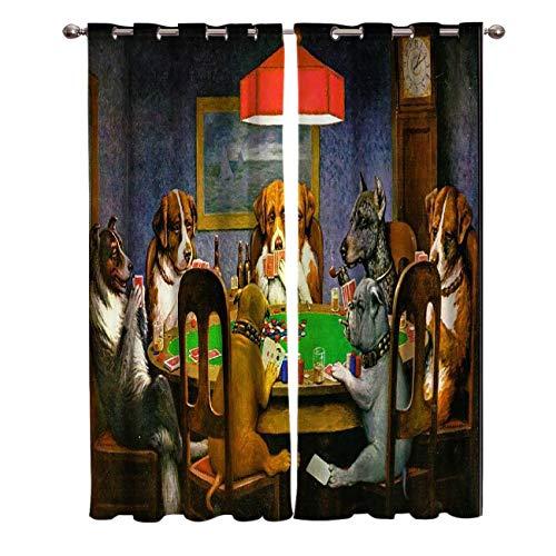 ATBDWOSZ® Cortinas Opacas De Salón Dormitorio 2 Piezas 140X160 Cm (Ancho X Alto) Solitario Animal...