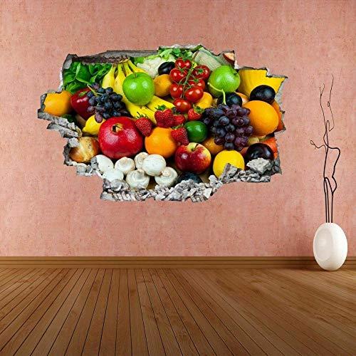 Pegatinas de pared Calcomanía mural defrutas y verduras mixtasHome Shop Decoración de cocina CH17