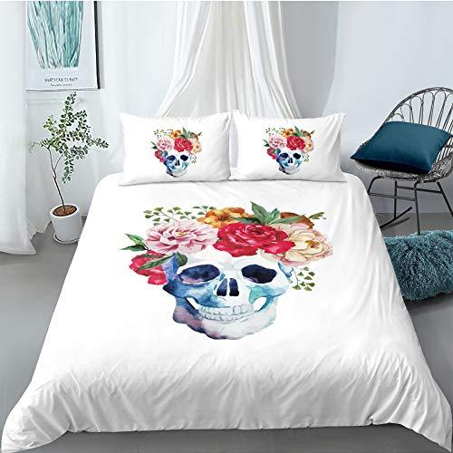 MMHJS 3-Teilige Bettwäsche Bettbezug-Kit Aus Mikrofaser Halloween Dekoration 2 Kissenbezüge 1 Bettbezug