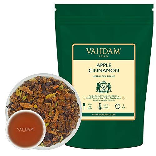 VAHDAM's Apfel-Zimt früchtetee Tisane - Set mit 2 LOSE BLATT PACKUNG (je 3,5 oz)|Apfel+Zimt+Hibiskus+Pfeffer & mehr|TROPISCH&FRUCHTIG EISTEE|100+ Tassen-brauen heiß/kalt|100% natürliche Inhaltsstoffe