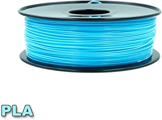 Multicolor PLA Filamentt, Dimensional Accuracy +/- 0.03 mm, Each Spool 1kg,1 Spools Pack,with 3D Build Surface (Water Blue)