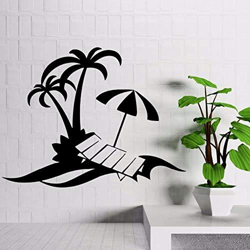 verkeersbord muurstickers keltisch, vinyl sticker Palm Beach Holiday Relax muursticker woondecoratie tropische stijl decoratieve Seas42x32cm