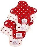Moon Pads Mini waschbare Slipeinlage aus Bio-Baumwolle 4er-Set hearts