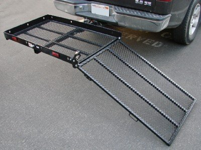 TMS® Folding Strong Electric Wheelchair Hitch Carrier Mobility Scooter Loading Ramp