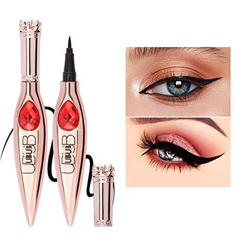 ONLYOILY Waterproof Liquid Eyeliner Super Liner Black Lacquer, Lunga Tenuta, Tratto Preciso con Applicatore in Feltro, Eyeliner Nero (01)