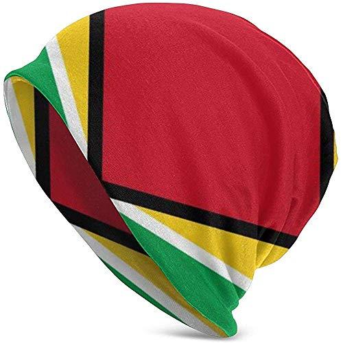 leyhjai Three Colors Rhombus Soft Slouchy Beanie Hats Daily Long Baggy Skull Cap para Hombres Mujeres