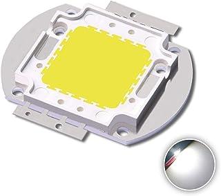 High Power LED Chip 50W Sunlight Full Spectrum White (4700-5200K/1750mA/DC 30V-34V/50 Watt) Super Bright COB Light Emitter Components Diode 50 W Bulb Lamp Beads DIY Hydroponic Flowers Growing Lamp