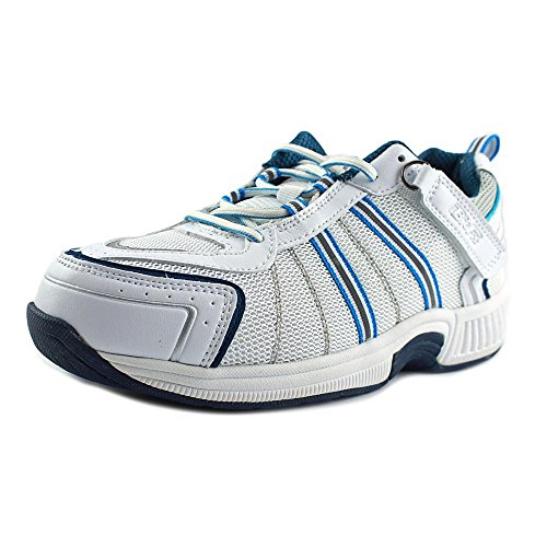 Orthofeet Proven Heel and Foot Pain Relief, Orthopedic Sneakers. Extended Widths. Arch Support Diabetic Women's Athletic Shoes Tahoe White/Blue