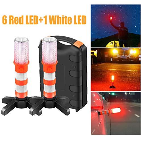 OurLeeme Luces de Emergencia, LED Luces de Advertencia en el Camino Luz Intermitente de Seguridad en el Trabajo Luz de Trabajo Luz estroboscópica Luces de Advertencia con Estuche