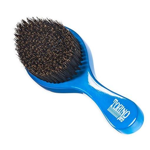- 51fY7SxiMmL - Torino Pro Wave brush #350 by Brush King – Medium Curve Waves Brush – Made with 100% Boar Bristles -True Texture Medium – All Purpose 360 Waves Brush