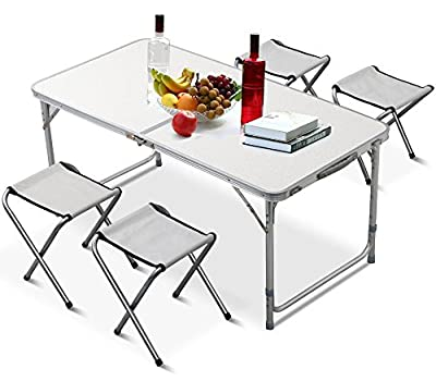 Yaheetech Aluminium Folding Portable Camping Picnic Party Dining Table