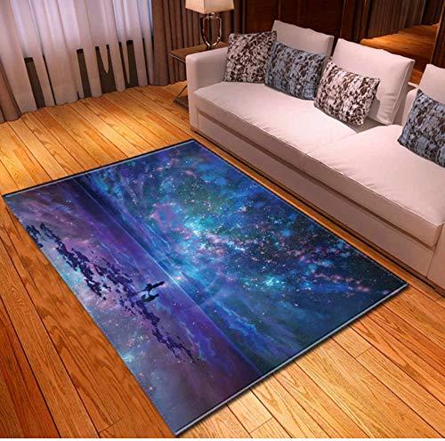 Teppiche Nordic 3D Sky Scenery Esstisch Teppiche Nachttisch Aus Weichem Polyester Rutschfeste Kinderspielmatte 120cmx170cm