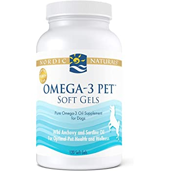 Nordic Naturals Omega 3 Pet - Special Dog Formula Fish Oil Omega-3s, EPA and DHA Support Skin, Coat, Joint, Heart and Overall Health, in Triglyceride Form for Optimal Absorption, 120 Count Bonus Size