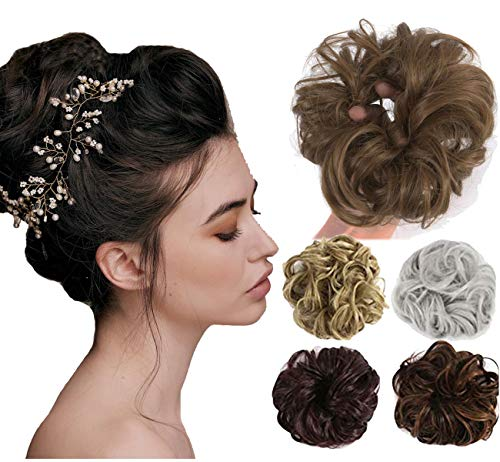 Messy Bun Updo Scrunchie Synthetic Ponytail Hair Extensions Hairpiece