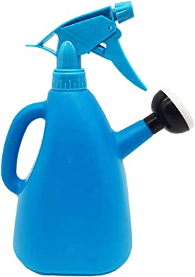 Dependable 2 in 1 All Purpose Watering Can with Built in Spray Bottle 1000ml 35 Ounces (Blue)