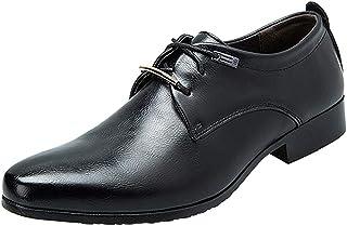 zpllsbratos Derby Classique Chaussures de Ville à Lacets Cuir Homme Oxford Bureau Mariage Business Uniforme 38-44
