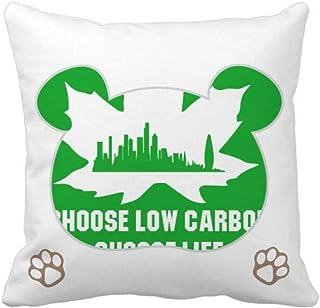 OFFbb-USA Green Homes Civilized People Bear - Funda cuadrada para almohada