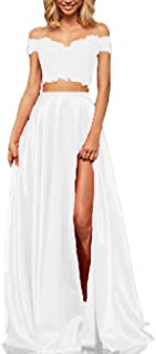 Best long two piece off the shoulder prom dress Reviews