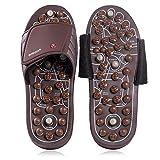 BYRIVER Herramienta de masajeador de pies de reflexología, Acupresión Masaje Mat Zapatillas Zapatos Sandalias, Alivio del dolor lumbar, Regalo para hombres mujeres (03M)
