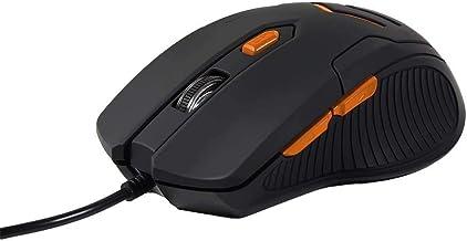 Mouse Gamer Multilaser 3200DPI 6 Botões Preto/Laranja com Mouse Pad - MO274