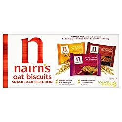 Nairn's 9 Oat Biscuits Snack Pack Selection 180g Quantity: 1