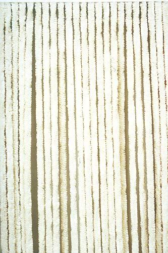Moritz Flauschvorhang aus Chenille 90 x 200 cm weiß Türvorhang als Fliegenschutz Insektenschutz für Camping Wohnwagen