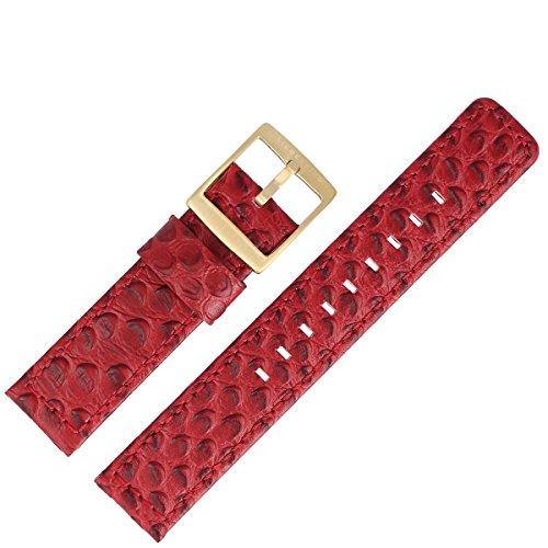 Liebeskind Uhrenarmband 20 mm Leder Rot Schlange - Uhrband B_LT-0012-LQ