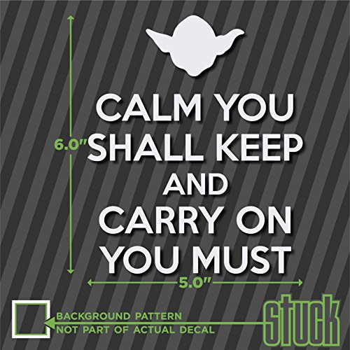 "Yoda KCCO Keep Calm And Carry On - 5"" x 6"" - vinyl decal sticker star wars jedi"