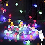 ANVAVA Cadena de Luces LED Guirnaldas Luces de Interior 100M con 50 Bombillas Cadena de luces para Dormitorio Infantil Hogar Fiesta Decoración