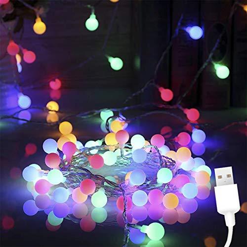 ANVAVA Cadena de Luces LED Guirnaldas Luces de Interior 100M con 50 Bombillas Cadena de luces para Dormitorio Infantil Hogar Fiesta Decoración…