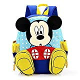 FGen Mochila Mickey,Mochila Mickey Mouse Infantil ,Mochila Infantil,Mochila de Gran Capacidad, para la Guarderia, Niña ,Niño (Azul)